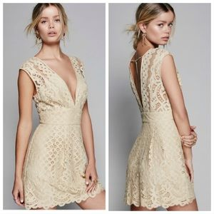 NWT Free People One Million Lovers Lace Dress 6